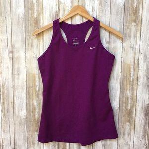 Nike dri-fit purple racerback tank top